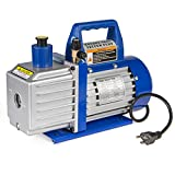 XtremepowerUS 1/2HP 2-Stage Vane Vacuum Pump (5 CFM) Air Conditioner Refrigeration HVAC Air AC A/C R410a R134
