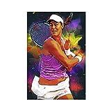 Ana Ivanovic Poster de tennis Pop Art 1 toile Décoration murale pour salon Décoration d'intérieur 30 × 45 cm Sans cadre