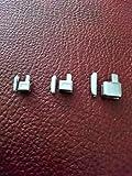 Kit de réparation pour fermeture Éclair Taille 3, 5, 7 caisses et embouts. Couleur : argenté.