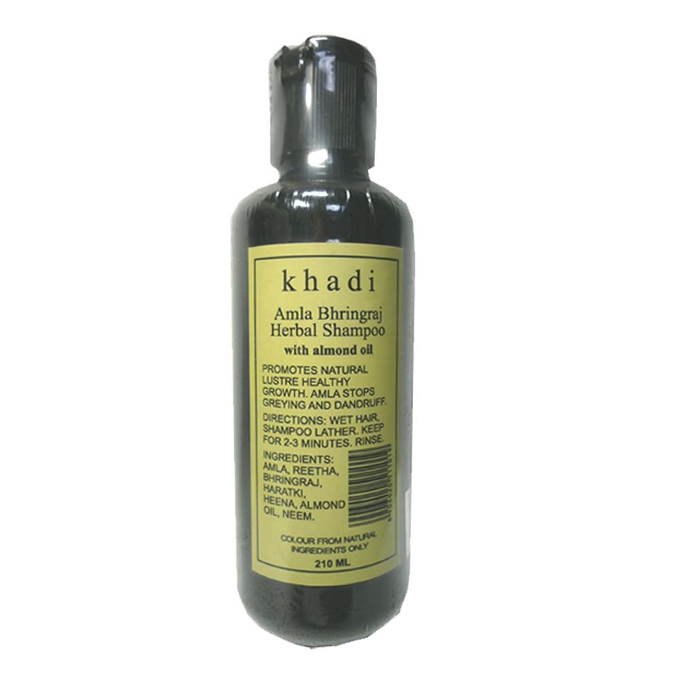 生き残ります出発ホイットニー手作り  カーディ アムラ リーサ ハーバルシャンプー KHADI Amla Rertha  Herbal Shampoo(Amla Bhringraj Herbal Shampoo)
