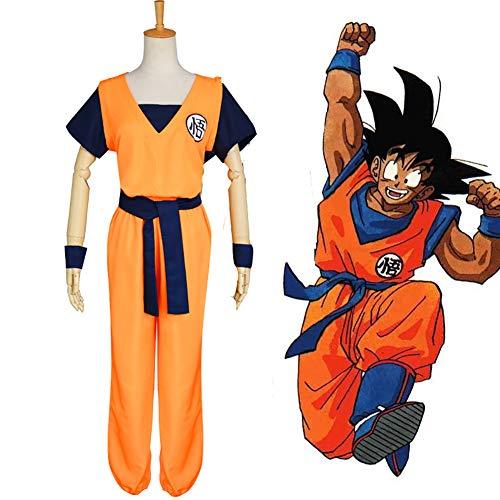 Dragon Ball Z Goku Saiyan Cosplay Costume Full Set 4 Pcs Unisex for Kids Adult Men Women Halloween Christmas,M