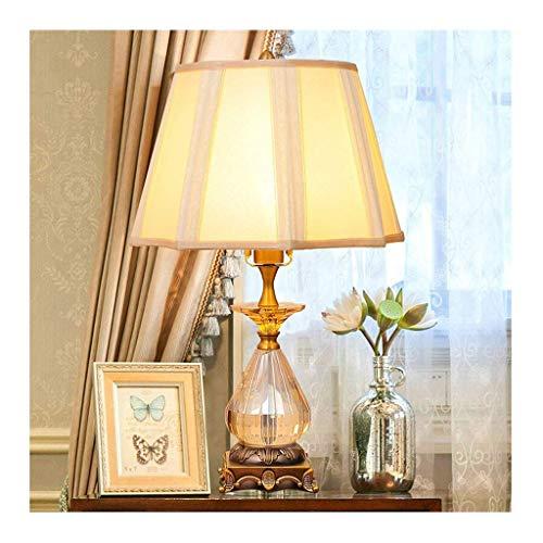 LJ Schreibtischlampe Leselampe Tischlampe Wohnzimmer Dekor Schlafzimmer Nachttischlampe Nachttischleuchte Moderne Schreibtischlampe Stoffschirme Kristalldekoration Nachttischlampe