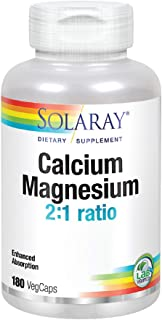 Solaray Calcium and Magnesium AAC Capsules, 180 Count (Packaging may vary)