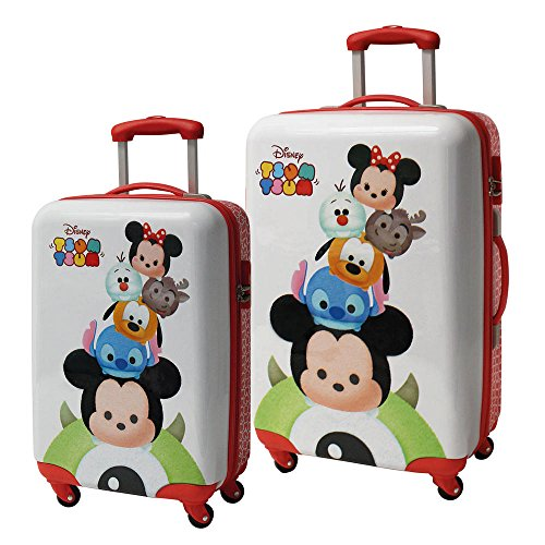 Set 2/Trolleys Abs 55/67cm.4r.Tsum Tsum Stack