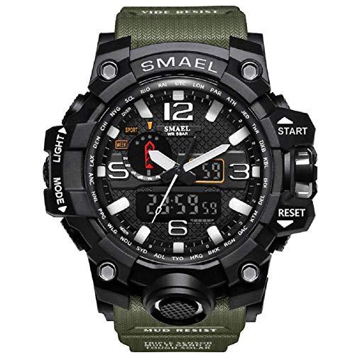 Militäruhr für Männer Digitale Taktische Fitness Sportuhr Wasserdicht Workout Outdoor Armbanduhr Schwarz Big Face Analog Quarzuhren