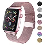 GBPOOT Compatible for Apple Watch Band 38mm 40mm 42mm 44mm, Wristband Loop Replacement Band for Iwatch Series 5,Series 4,Series 3,Series 2,Series 1,Rosegold,38mm/40mm