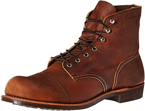 Red Wing Heritage Men's Iron Ranger Work Boot, Copper Rough and Tough, 8.5 D US