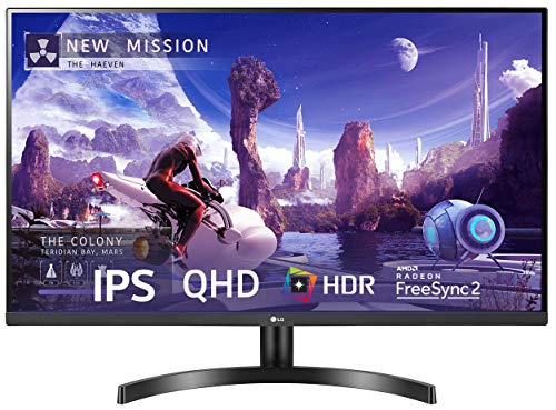 LG QHD (2560 x 1440) 32 Inch IPS Display 3 Side Borderless - HDR 10, sRGB 99%, AMD Free sync - Dual HDMI, Display Port - 32QN600