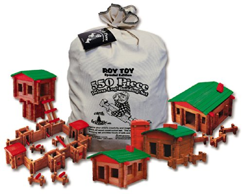 Roy Toy 550 Pc. Log Building Set