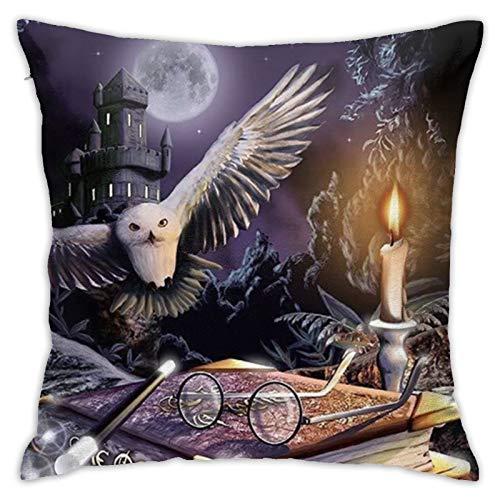Ha-Rry Po-Tter, federa per cuscino quadrato per divano, decorazione per la casa, 45 x 45 cm