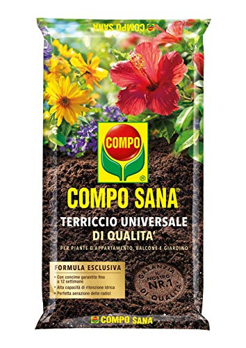 COMPO SANA Terriccio Universale di qualità, Per piante d'appartamento, balcone e giardino, 80 l