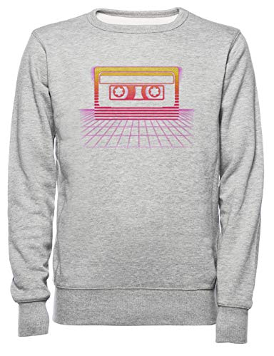 Zonsondergang Cassette Ii Dames Mannen Unisex Sweatshirt Trui Grijs Women's Men's Unisex Sweatshirt Jumper Grey