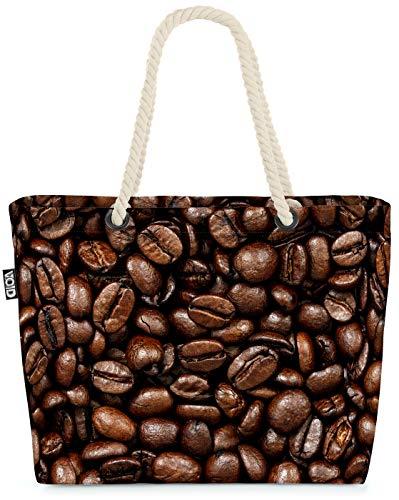 VOID Kaffeebohnen Kaffee Strandtasche Shopper 58x38x16cm 23L XXL Einkaufstasche Tasche Reisetasche Beach Bag