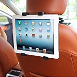 SPYKART Car Headrest Mount Holder/Rotating Cradle Back Seat Dock Stand for iPad/Samsung Tab/Kindle and Other Tablets from 7 to 10 inch (Black)