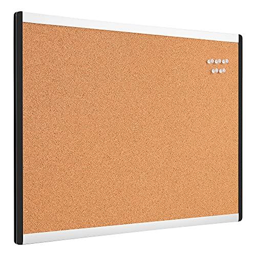 Amazon Basics - Tablón de corcho, 43,2 x 58,4 cm, bastidor de aluminio y plástico
