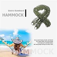 ハンモック 新シングルには、屋外レジャースイング吊りベッド大人用家具キャンプナイロンポータブルハンモックビーチメッシュ