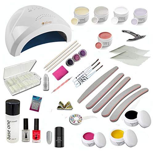 UV Gel Starterset Starlight inkl. UV-LED Kombi Gerät, Nagelzubehör - Nailart - Einsteigerset - UV Gel Kit