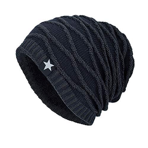 Luoluoluo muts heren dames wintermuts unisex winterbeanie warme gebreide muts met zachte fleece binnenvoering vrouwen mannen werkmuts hoed hoed hoed