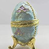 Bradoner Schmuckschatulle, bemalte Eier, Diamant, für Ringe, Ohrringe, Schmuck, Aufbewahrung, Ornamente, kreatives Geschenk, 5 x 9,5 cm