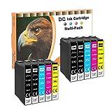 D&C 10x Cartucho de Tinta Compatible para Epson T1285-T1281 T1282 T1283 T1284 para Epson Stylus Office BX305FW S22 SX125 SX130 SX230 SX235W SX420W SX425W SX430W SX435W SX438W SX440W SX445W