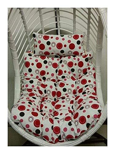 Cojín Cuadrado para Hamaca, Columpio para Colgar Cojines para sillas con Forma de Huevo Cojín Grueso para Columpio de ratán para jardín con Almohada, sin Soporte 916 (Color: J, Tamaño: 90x100cm)