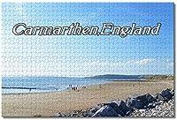 BEI YU MAN.co 英国イングランドカーマーゼンビーチジグソーパズル大人用子供1000ピース木製パズルゲームギフト用家の装飾特別な旅行のお土産