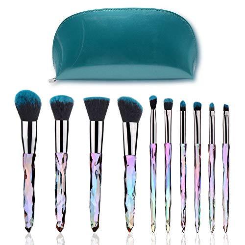 Make-up-Pinsel-Set, 10-in-1-Kosmetikkosmetik-Make-up-Kunstfaser-Borsten-Bürsten-Foundation-Kits...