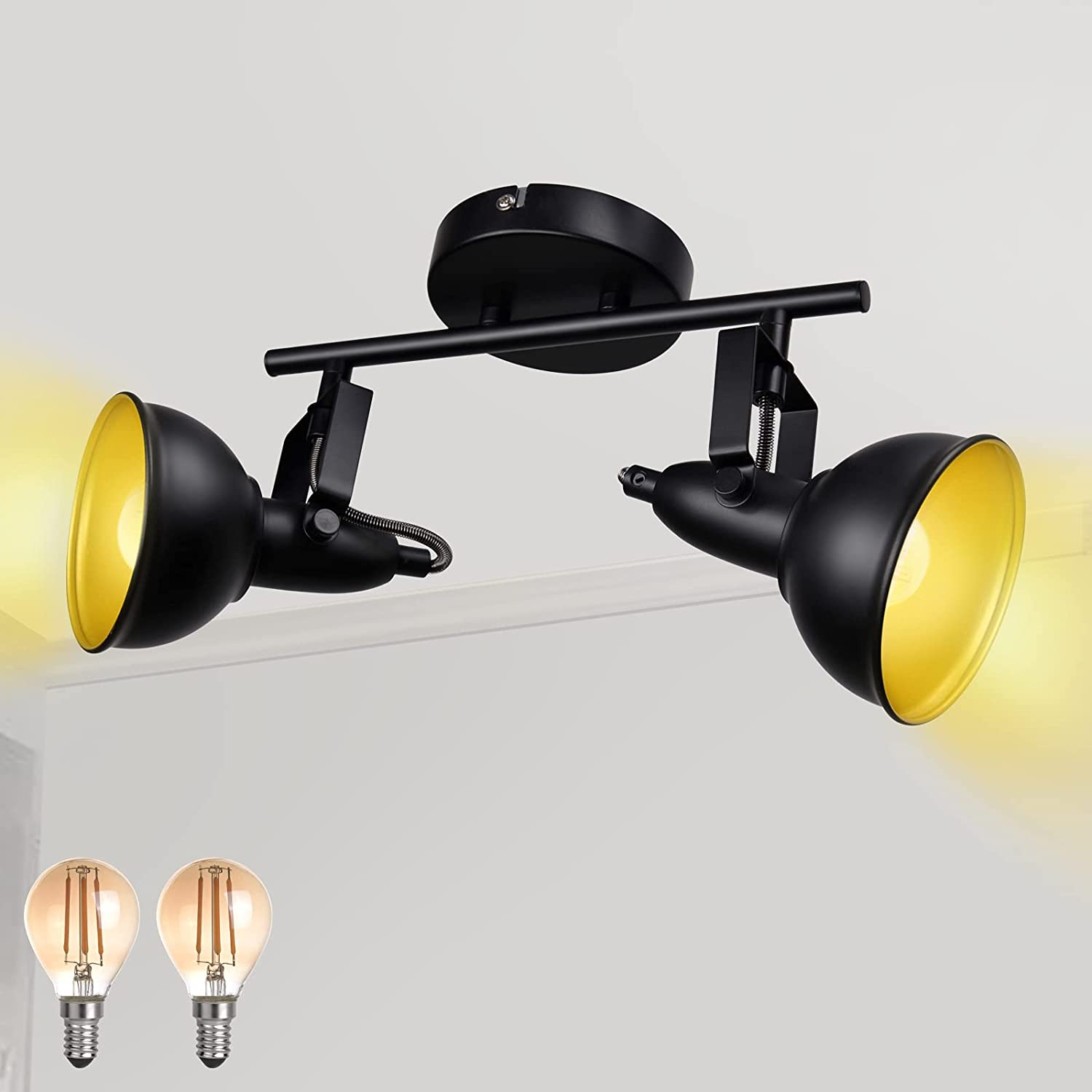 HiBay Retro Track Sale price Lighting Fixtures LED Ceiling L Recommended Black 2-Light
