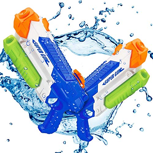 Water Guns for Kids Adults - Super Squirt Guns, Long Range Shooting, 1000CC High Capacity, Water Soaker Blasters Squirt Guns for Boys Girls, Swimming Pool Beach Water Fighting Play Toys, 2 Pack