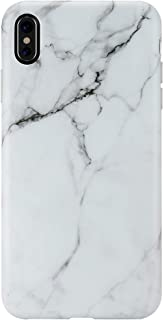 iPhone Xs MAX Case,GOLINK Matte Finish Marble Series Slim-Fit Ultra-Thin Anti-Scratch Shock Proof Dust Proof Anti-Finger Print TPU Gel Case for iPhone Xs MAX 6.5 inch(White Marble)