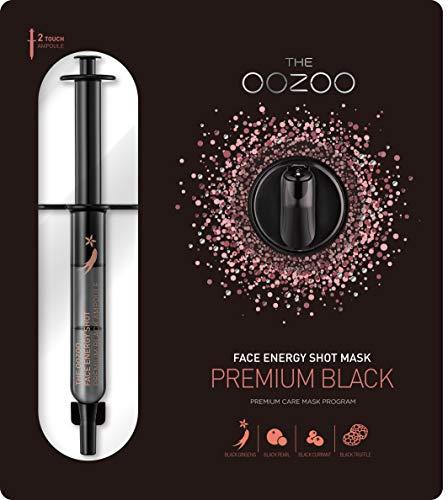 The Oozoo Face Energy Shot Mask Premium Black - 1 Unidad
