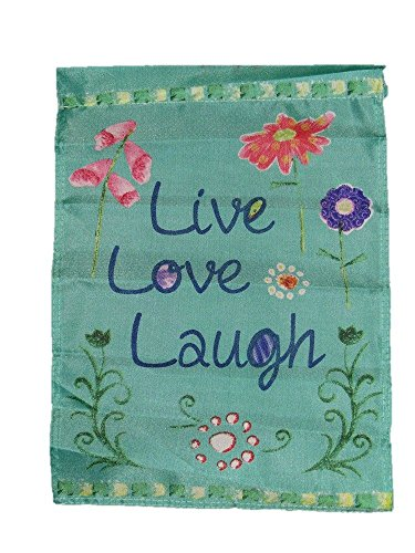 ALBATROS 12 in x 18 in Live Love Laugh Sleeved Garden Flag for Home and Parades, Official Party, All Weather Indoors Outdoors