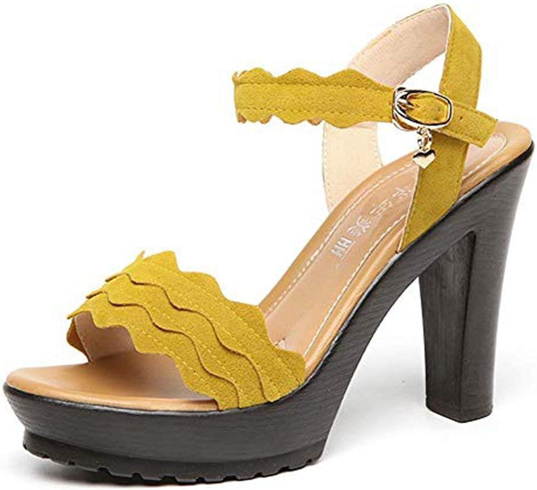 Ghapwe Women's Wedges Platform Open Toe Chunky Heel Pumps shoes Ankle Strap Slip On Dress Party Sandals Sexy Elegant Leg Length Girl Leg Length Fashion Girl Reasing Black 9 M US Sandals shoes