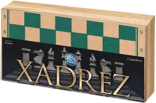 Jogo de Xadrez Oficial Caixa em Madeira 40 Cm, Pais E Filhos, Multicor