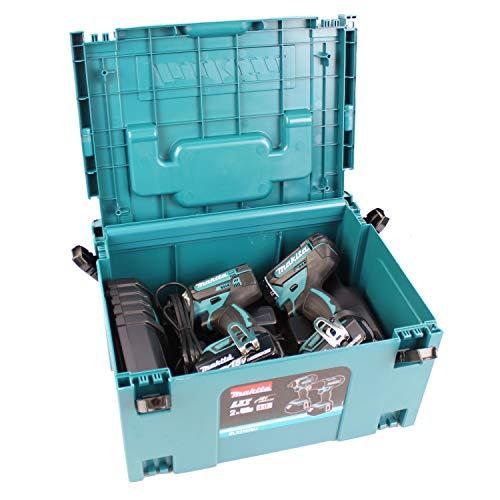 Makita Combo Kit trapano avvitatore a batteria DLX2127MJ DDF482 + DTD152 + 2 x 4,0 Ah + DC18RC in Makpac misura 3