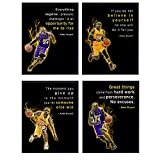 Motivational Kobe Bryant Quotes, Office Wall Decor - 8x10 Home Art, Room Decoration - Inspirational Gift for...