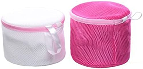 2021 Mallofusa 2Pcs Bras Laundry Wash Bag Mesh sale for Washing Machine wholesale Travel Laundry Bag Bras Underwear Pink & White outlet sale