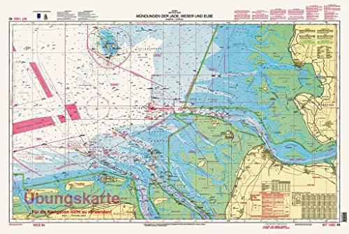 Mündungen der Jade, Weser und Elbe: Übungskarte