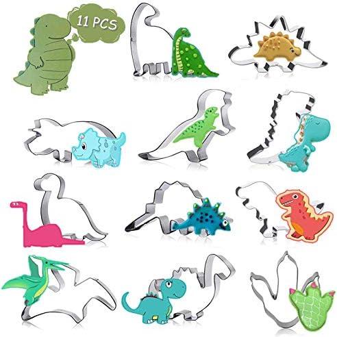 Emporte Pi 232;ce Dinosaure Pour Enfants 11 Pi 232;ces Inoxydable Moule224; biscuits Emporte Pi 232;ce pour Biscuits Patisserie cookie cutter pour Enfants F 234;te Anniversaire Dinosaure D 233;co dinosaure11