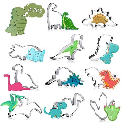 ETHEL Plätzchen Ausstecher 11 Stück Dino Keksausstecher Ausstecher Dinosaurier Ausstechformen Set Dinosaurier Motiv Ausstechformen Set für Kinder Geburtstag Dino Party Deko (Dinosaurier 11)