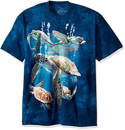 The Mountain Men's Big and Tall Sea Turtle Family, Blue, 4XL