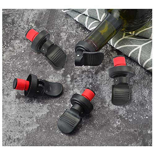 [5 unidades]Tapones Vino,Tapones Botellas Vino,Tapones de Vino,Tapón de botella de vino de vacío reutilizable universal,para botella de champán