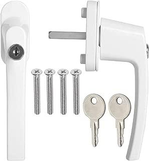 Manilla puerta con cerrojo kwmobile 8x pomo de puerta con llave Pasador 35MM RAL 8019 color marr/ón Manija de seguridad para ventana corredera