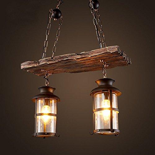 Americano Retro Barca houten hanglamp klassieke industriële stijl van smeedijzer, kroonluchter van glas voor loft restaurant Villa Bar Club Cafe Corridoio Balcone, E27