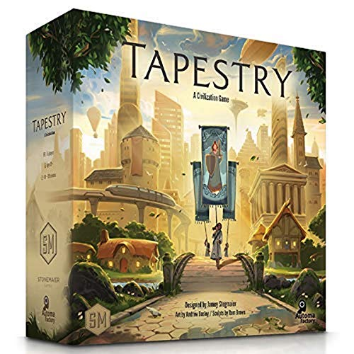 Tapestry Board Game - A Civilization Building Stonemaier Game with 18 Painted Landmark Miniatures for 1-5 Players, Ages 14+