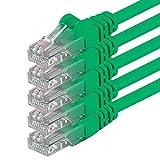 2m - Verde - 5 Piezas - Cable de Red Ethernet con Conectores RJ45 CAT6 Cat 6 Cat.6 1000 Mbit/s