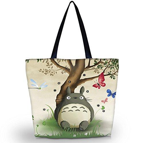 Strandtasche, Reisetasche, Einkaufstasche für Damen, faltbar, wasserdicht, abendliche Handtasche, Cute Totoro (mehrfarbig) - LYSB01MQQAYLN-OFFSUPPLIES