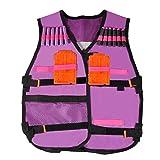 Veste Tactique, Réglable Enfants Elite Defense Vest Kit pour Nerf N-grève Elite Series Blaster Gilet Kid Jouet Jeu Jeu Firm Accessory Cadeau d'anniversaire