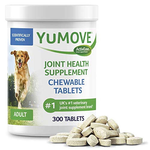 Dog Joint Supplement, Hip and Joint Supplement for Dogs with Glucosamine, Hyaluronic Acid, and Green...