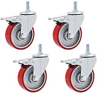 Swivel Stem Meubels Caster Rood Totale Load 450KG/100lbs voor Karren Werkbank Grootte Naam: 3 inch Kleur Naam: Universeel